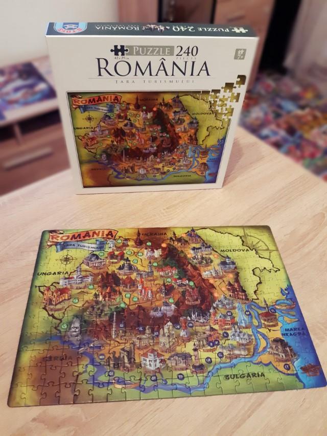 puzzle harta romaniei